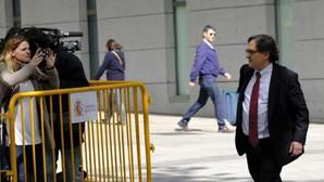 Francisco Marhuenda, director de «La Razón» a su llegad a la Audiencia Nacional este jueves
