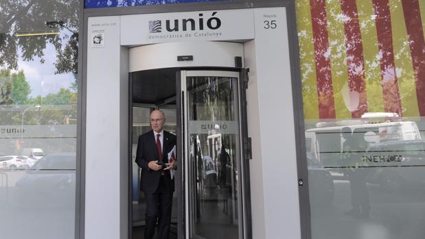 Duran i Lleida, en una imagen de archivo, en la sede de Unió