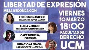 Vox denuncia al decano de Derecho por «boicotear» una conferencia sobre libertad de expresión»