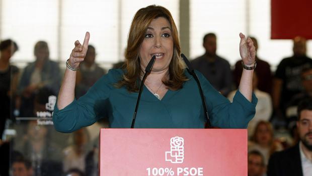 Imagen de Susana Díaz en el mitin de este sábado en Elche