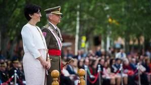 La alcaldesa de Pozuelo, durante el acto