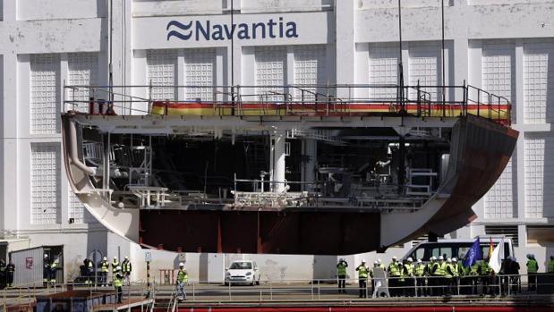 Astillero Navantia en sus intalaciones en Ferrol