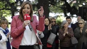 Susana Díaz en un acto este viernes