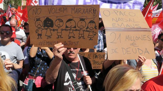Imagen de la marcha de UGT en el Día del Trabajador en Alicante