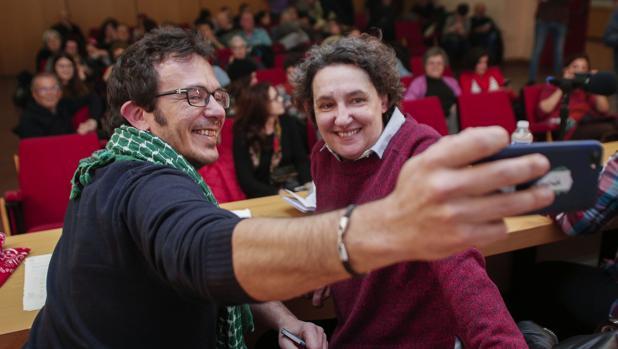 José María González «Kichi», en un acto de Anticapitalistas, corriente de la que forma parte en Podemos