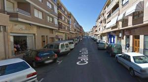 Imagen de la calle Zafra en Caudete, en la provincia de Albacete