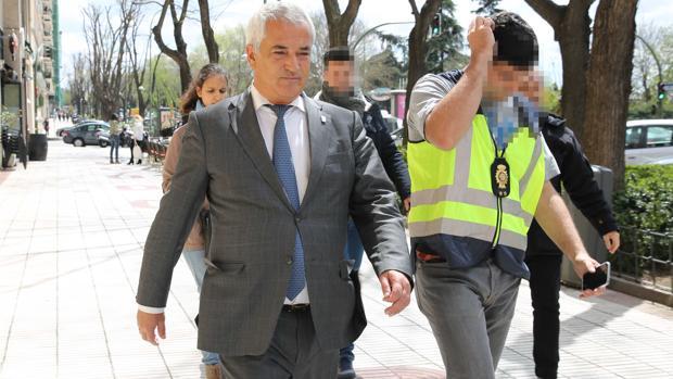 Luis Pineda, en el momento de su detención