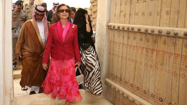 Doña Sofía durante el viaje que realizó a Arabia Saudí en 2006