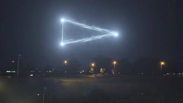 Un supuesto OVNI avistado en los cielos