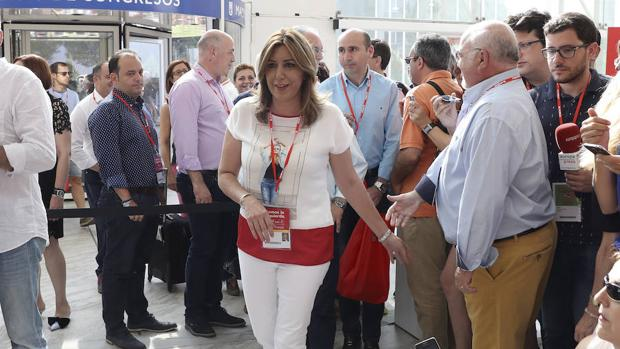 Susana Díaz a su llegada este sábado al Congreso Federal del PSOE