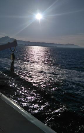 Vista de la llegada a Gandía tomada desde el buque