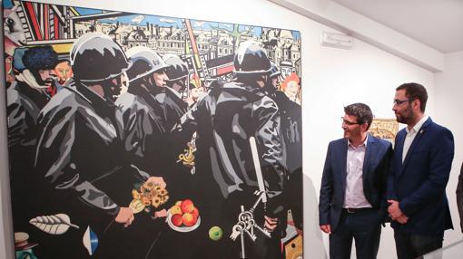 El president Jorge Rodríguez en l'exposició «Memòria de la modernitat»