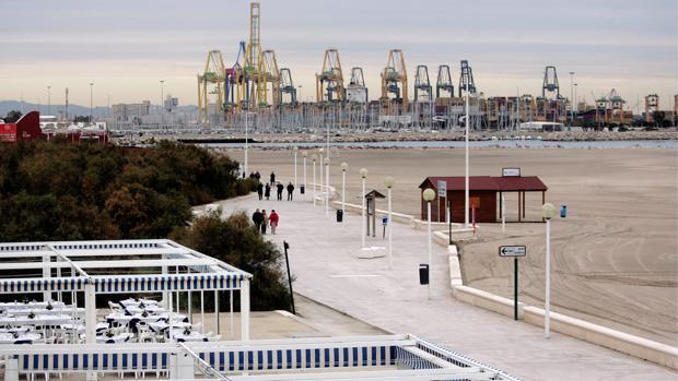 Imagen de archivo del Paseo Marítimo de Valencia