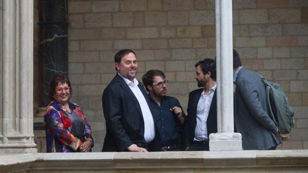 Junqueras, en un acto en el Palau de la Generalitat