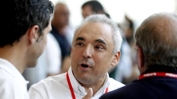 Rafael Simancas, el pasado sábado en la celebración del 39º Congreso Federal del PSOE
