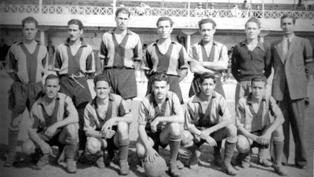 Foto del equido del primer partido Real Cub Victoria en 1910