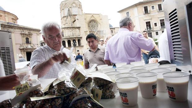 Imatge d'arxiu de la celebració del Dia de l'Orxata a València