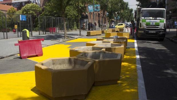 La peatonalización de la calle Galileo, que ha suscitado las quejas de los vecinos del barrio de Chamberí