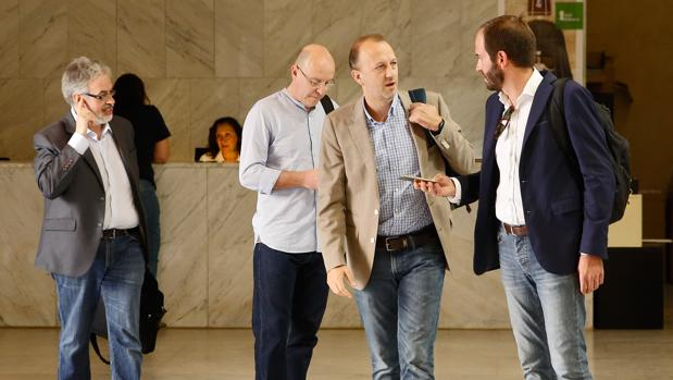 Domingo Rojo, Alberto García, Alexis Marí y David de Miguel, en una imagen de archivo