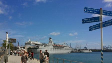 El crucero Astor en la capital grancanaria