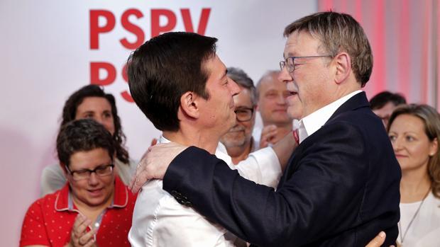 Imagen de Ximo Puig y Rafa García tomada este domingo