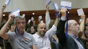 Luís Villares, ayer, durante la votación