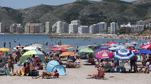 Imagen de una de las playas de la localidad valenciana de Cullera