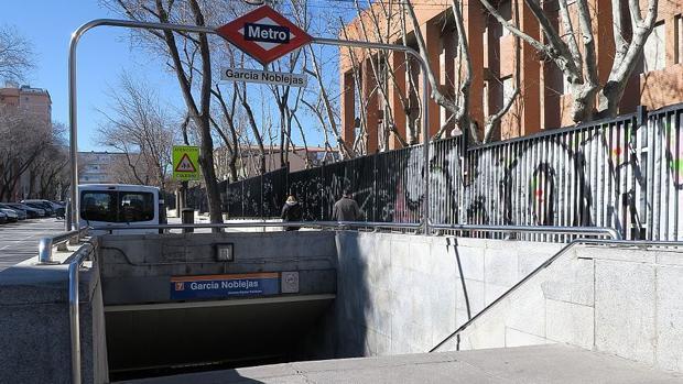 Estación de Metro de García Noblejas en Madrid