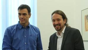 Pedro Sánchez y Pablo Iglesias en su reunión del 27 de junio
