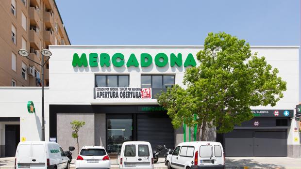Imagen de la tienda de Mercadona en la Carrera de Malilla de Valencia
