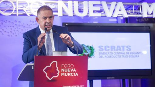 Lucas Jiménez, en el Foro Nueva Murcia