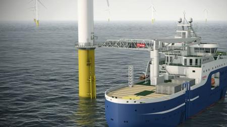 Las turbinas de eólica en el agua servirán en el futuro para suministrar GNL
