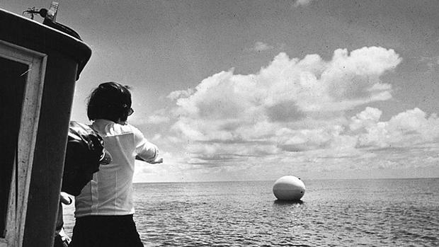 El huevo saliendo de La Palma la tarde del 10 de junio de 1970