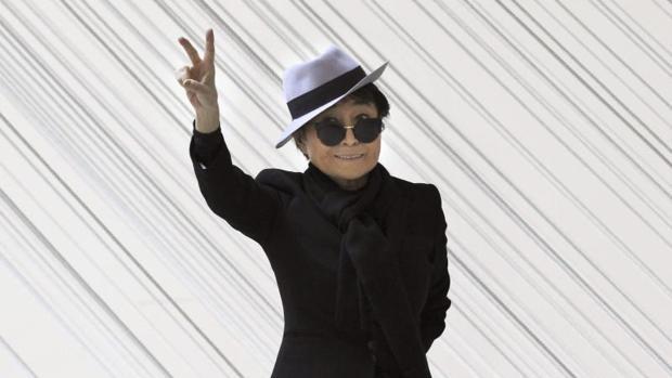 Yoko Ono, en Bilbao, en 2014