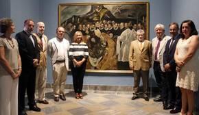 Miembros de las insituciones implicadas en la exposición en el Museo de Sta. Cruz