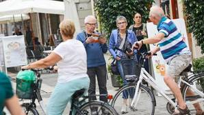 Imagen de archivo de turistas en el centro de Valencia