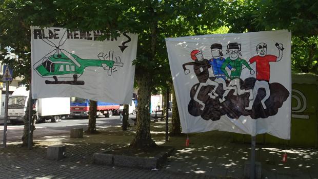 El mural contra la Guardia Civil de Echarri