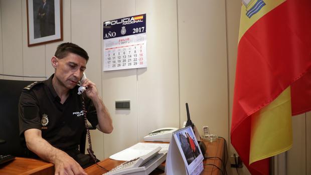 El comisario jefe del distrito Centro de Madrid, Manuel Soto