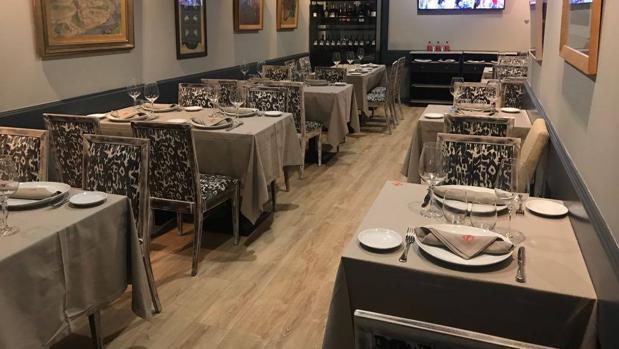 Sala del restaurante La Pavía