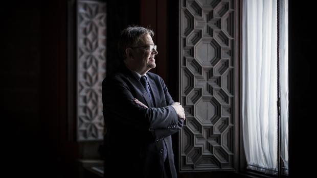 Ximo Puig, en las dependencias del Palau de la Generalitat