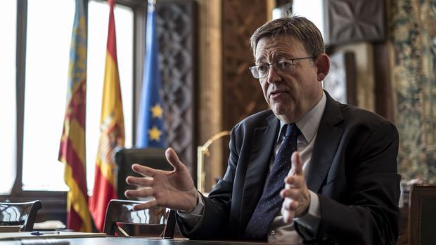 Ximo Puig, en su despacho del Palau de la Generalitat