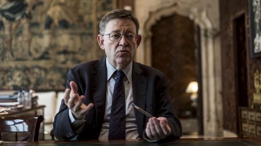 El presidente de la Generalitat, en un momento de la entrevista