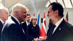 Rajoy y Trump durante su encuentro en Bruselas el pasado mes de mayo