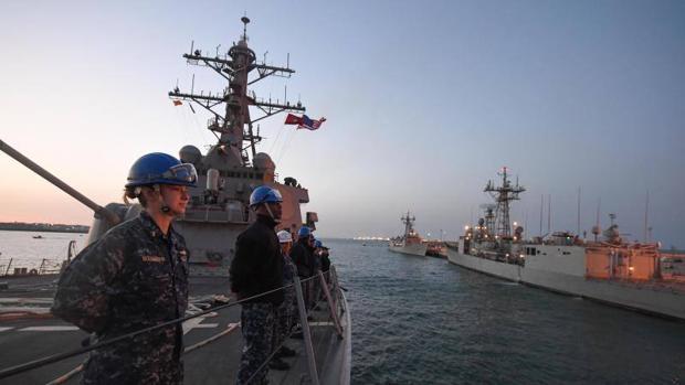 Una embarcación norteamericana regresa a la base de Rota
