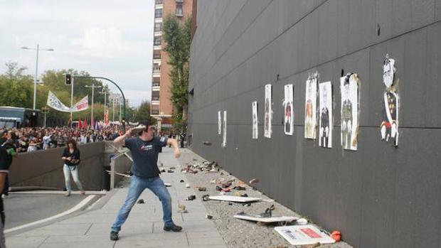«Tiro al fatxa» que tuvo lugar en Pamplona en 2015