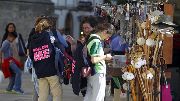 Visitantes en el Obradoiro
