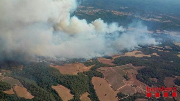 Imagen aérea facilitada por los Bombers del fuego