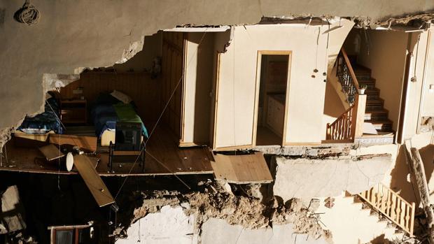 Imagen de archivo de una casa derrumbada en Castellón