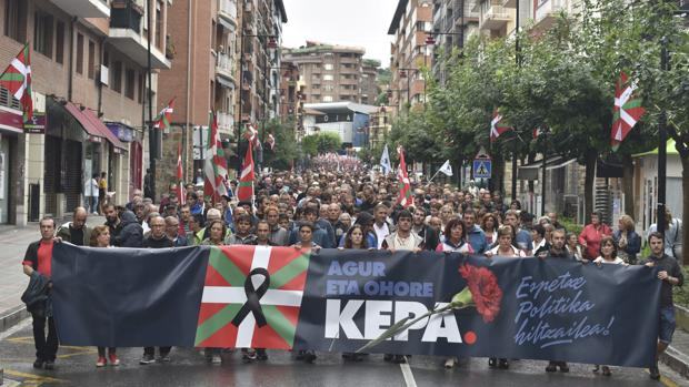 Manifestación celebrada en Galdácano