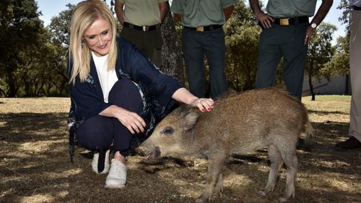 Cifuentes, junto a Pepa Pig, la jabata «mascota» del CRAS